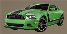 2013 Ford Mustang Boss 302 Wall Graphic