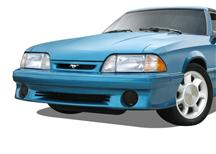 1987-93 Mustang GT Smoked Fog Light Covers