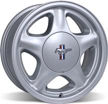 1979-93 16X7 Mustang Silver Pony Wheel with Ford Licensed Center Cap