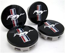 Mustang Bullitt Center Cap Kit Fits Fr500, 00 Cobra R, or Bullitt Style Aftermarket Wheels. Set Of 4