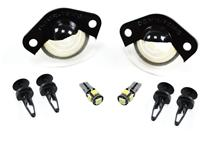 Mustang License Light Lenses w/ LED Bulbs (94-04)