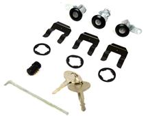 Mustang Mustang Lock Set with Black Bezel (87-93)
