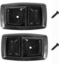 1979-93 Mustang Black Inner Door Handle Bezel Kit.