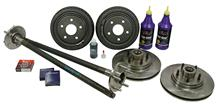 Mustang 5-Lug Conversion Kit with 28 Spline Rear Axles (87-93)