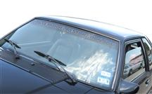 1979-93 Latemodelrestoration.Com Windshield Banner Silver