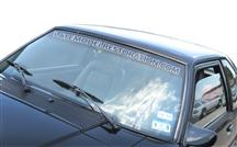 1979-93 Latemodelrestoration.Com Windshield Banner White