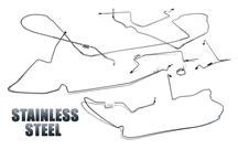 1987-93 Mustang 5.0L Power Stainless Steel Disc Brake Line Kit