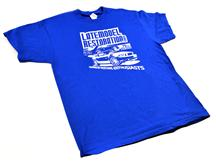 2013 Powered By Enthusiasts T-Shirt, Blue (Medium)