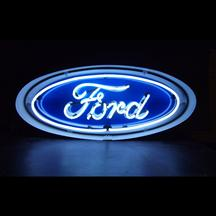 Ford Oval Neon Sign In Metal Can