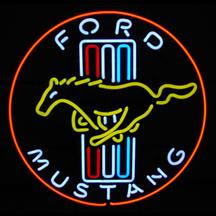Ford Mustang Running Pony Neon Sign