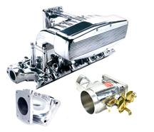 1994-95 Mustang 5.0L Polished Professional Products Typhoon Intake with Polished 65mm Throttle Body And Polished Intake Adapter