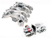 99-04 MUSTANG GT PROFESSIONAL PRODUCTS POLISHED TYPHOON INTAKE MANIFOLD KIT INCLUDES PLENUM AND  75MM THROTTLE BODY