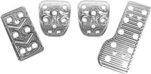 1979-04 Mustang Plain 4Pc Pedal Kit for Manual Transmission