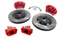 "1994-04 Mustang Red SVE 13"" Cobra Style Brake Kit with Matching Rear Calipers"