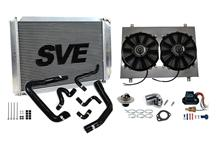 Mustang SVE 5.0L Complete Aluminum Radiator Upgrade Kit for Ma (86-93)
