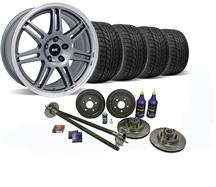 1987-93 Mustang Anthracite SVE 5-Lug Conversion Wheel & Nitto Tire Kit Tire Kit - 17X9