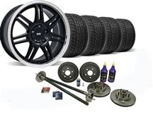 1987-93 Mustang Black SVE 5-Lug Conversion Wheel & Nitto Tire Kit - 17X9