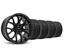 1994-04 Mustang Flat Black SVE Drift Wheel & Nitto Tire Kit - 18X9