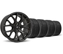 Mustang SVE Drift Wheel & Nitto Tire Kit - 19X9.5 Flat Black (05-14)