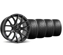 Mustang SVE Drift Wheel & Falken Tire Kit - 19X9.5 Flat Black (05-14)